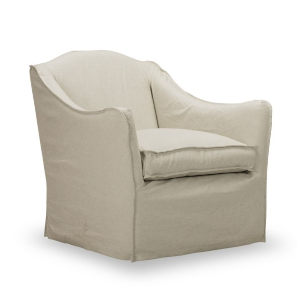 Spectra Home Keith Milar Natural Slipcover Swivel Glider Chair SPH-Keith-Slipcover-Swivel-Glider-Chair-MN