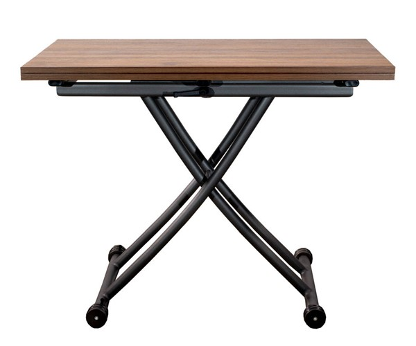 Space Master Dark Oak Transforming X Base Coffee and Dining Table SPM-CO-2219-DOAK