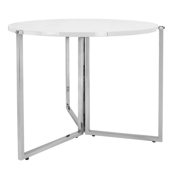 Space Master White Round Radiant Circular Folding Table SPM-SM-CO-2389