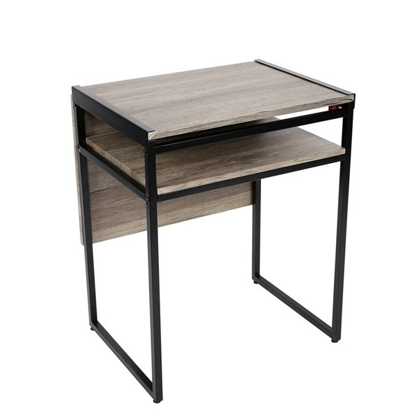 Space Master Black Small Space Desk and Dining Table SPM-SMT-08D-BL
