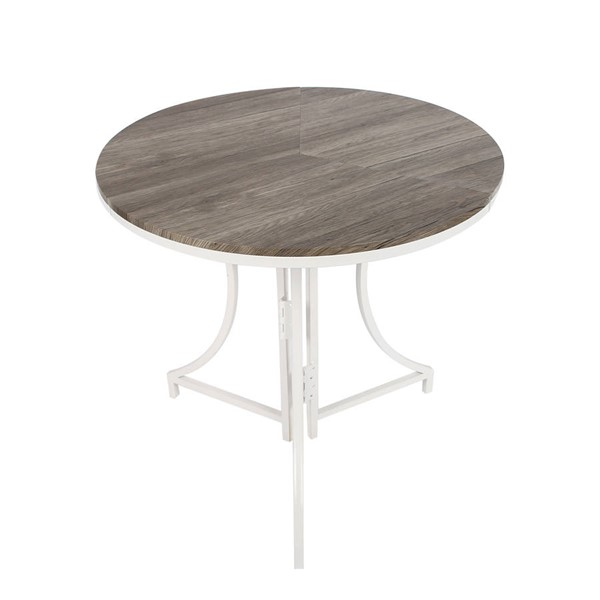 Space Master White Folding Bistro Table SPM-SMT-22R-WH