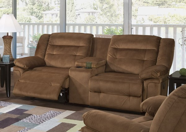 Serta 8900 Series Tombstone Tobacco Double Reclining Sofa SRT-8900DRS02