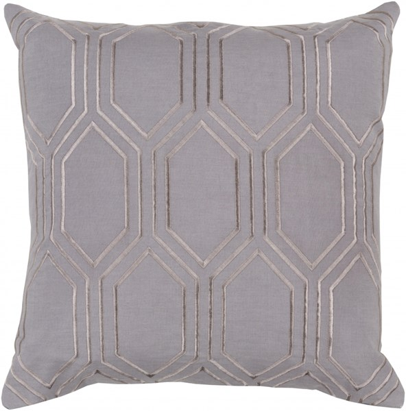 Skyline Charcoal Gray Fabric Square Throw Pillow (L 22 X W 22 X H 5) BA003-2222P