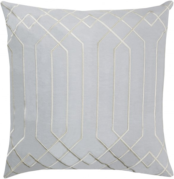Skyline Light Gray Fabric Poly Feel Throw Pillow (L 18 X W 18 X H 4) BA016-1818P