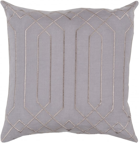 Skyline Charcoal Light Gray Fabric Throw Pillow (L 20 X W 20 X H5) BA017-2020P