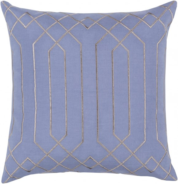 Skyline Sky Blue Fabric Geometric Throw Pillow (L 20 X W 20 X H 5) BA019-2020P