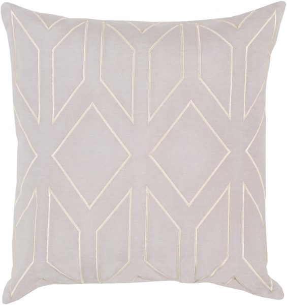 Skyline Light Gray Beige Fabric Throw Pillow (L 22 X W 22 X H 5) BA023-2222D