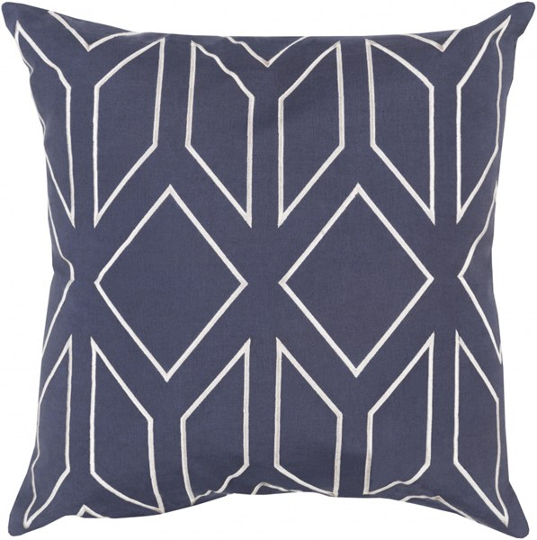 Skyline Navy Light Gray Fabric Throw Pillow (L 20 X W 20 X H 5) BA027-2020D