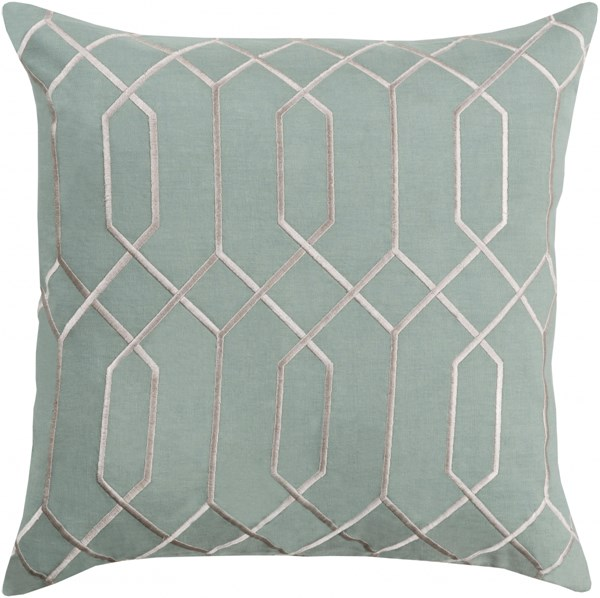 Skyline Moss Light Gray Fabric Poly Throw Pillow (L 22 X W 22 X H 5) BA038-2222P