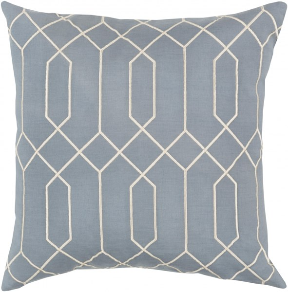 Skyline Moss Beige Fabric Geometric Throw Pillow (L 20 X W 20 X H 5)  BA039-2020D