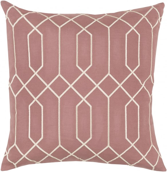 Skyline Rust Beige Fabric Poly Feel Throw Pillow (L 22 X W 22 X H 5) BA041-2222P