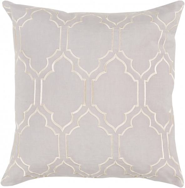 Skyline Trellis Pillow with Down Fill in Light Gray - 22 x 22 x 5 BA043-2222D