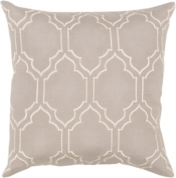 Skyline Trellis Pillow with Poly Fill in Gray - 22 x 22 x 5 BA044-2222P