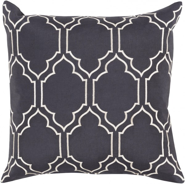 Skyline Trellis Pillow with Down Fill in Slate - 22 x 22 x 5 BA045-2222D
