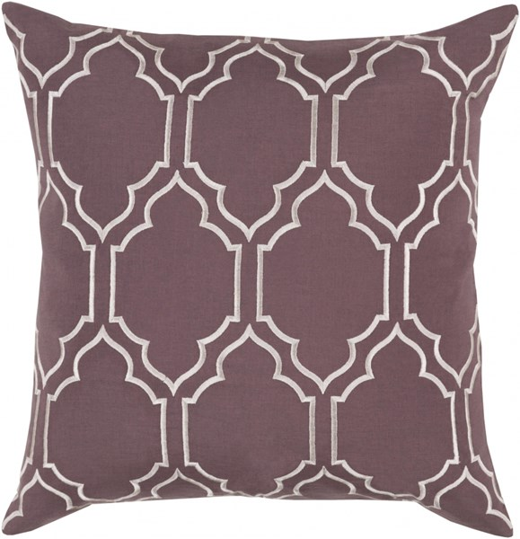 Skyline Trellis Pillow with Poly Fill in Charcoal - 22 x 22 x 5 BA046-2222P