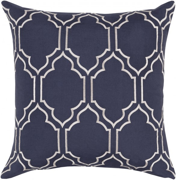 Skyline Pillow with Down Fill in Navy - 18 x 18 x 4 BA047-1818D