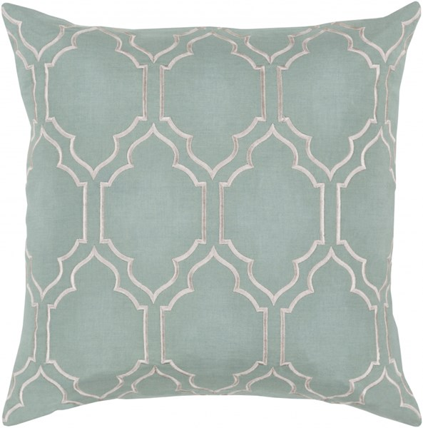Skyline Trellis Pillow with Down Fill in Moss - 18 x 18 x 4 BA048-1818D
