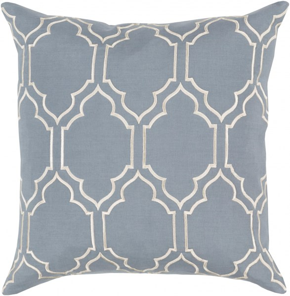 Skyline Trellis Pillow With Poly Fill In Moss Beige - 20 x 20 x 5 BA049-2020P