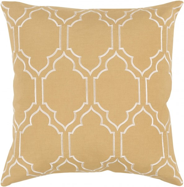 Skyline Trellis Pillow with Poly Fill in Gold - 22 x 22 x 5 BA050-2222P