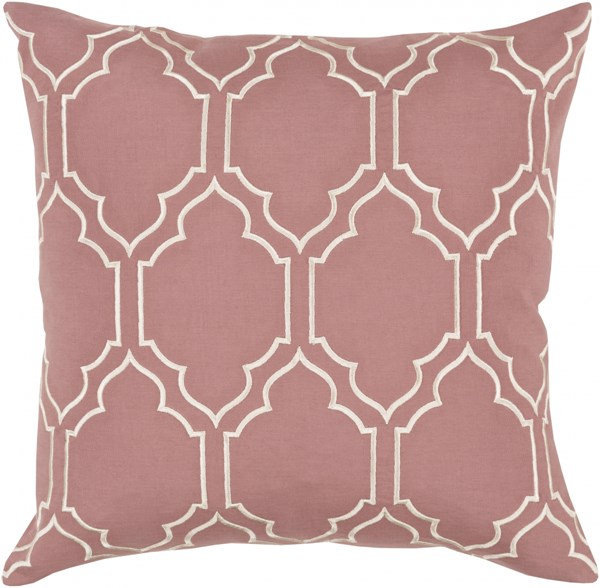 Skyline Trellis Pillow with Down Fill in Rust - 22 x 22 x 5 BA051-2222D
