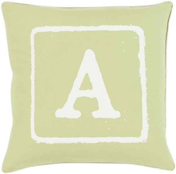 Big Kid Blocks Lime Down Cotton Throw Pillow (l 18 X W 18 X H 4) BKB028-1818D
