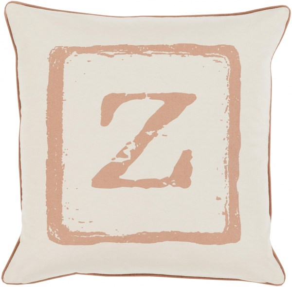 Big Kid Blocks Tan Beige Poly Fabric Throw Pillow (L 22 X W 22) BKB030-2222P