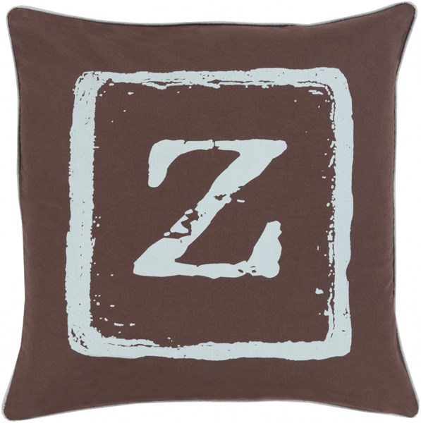 Big Kid Blocks Slate Fabric Down Throw Pillow (L 18 X W 18 X H 4) BKB034-1818D