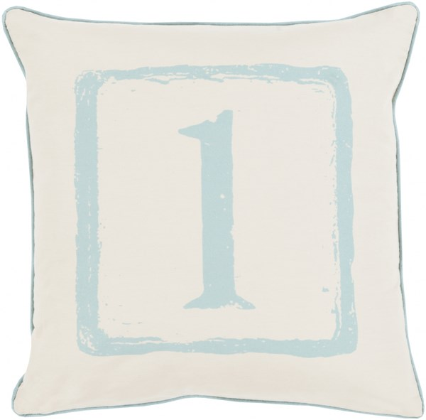 Big Kid Blocks Beige Poly Cotton Throw Pillow (L 18 X W 18) BKB036-1818P