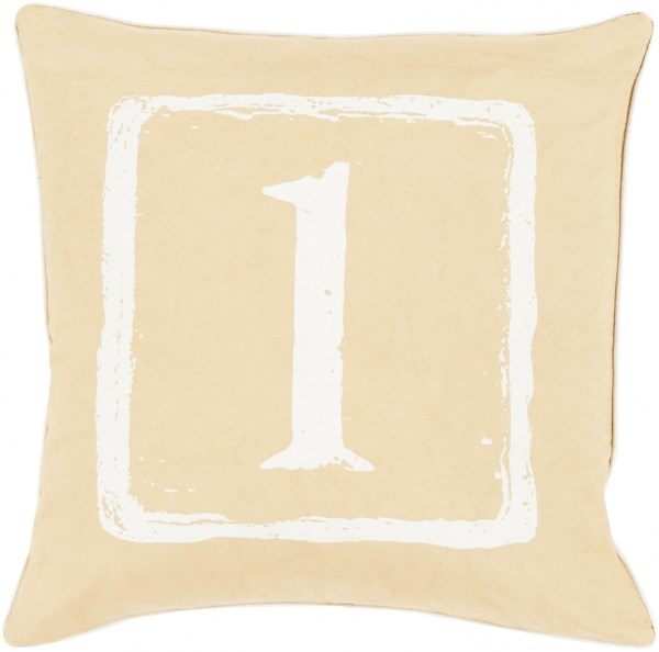 Big Kid Blocks Ivory Down Cotton Throw Pillow (L 22 X W 22) BKB039-2222D