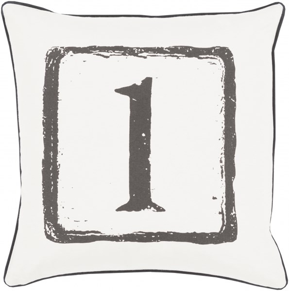 Big Kid Blocks Gray Down Cotton Throw Pillow (L 18 X W 18) BKB040-1818D