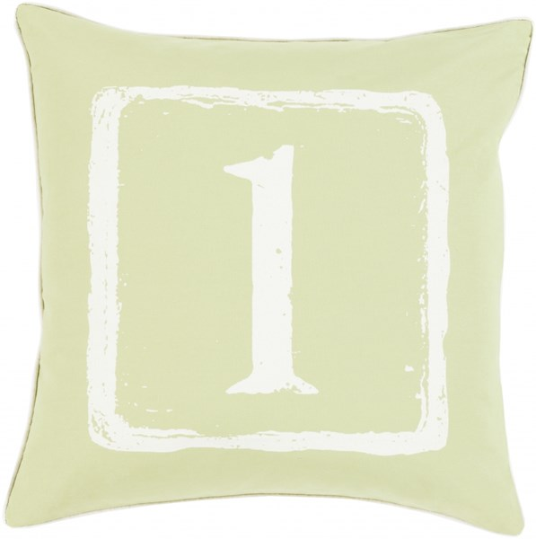 Big Kid Blocks Lime Ivory Poly Fabric Throw Pillow (L 18 X W 18) BKB042-1818P