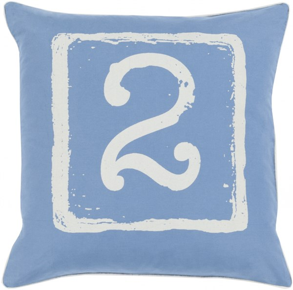 Big Kid Blocks Cobalt Novelty Down Cotton Throw Pillow (L 18 X W 18) BKB045-1818D