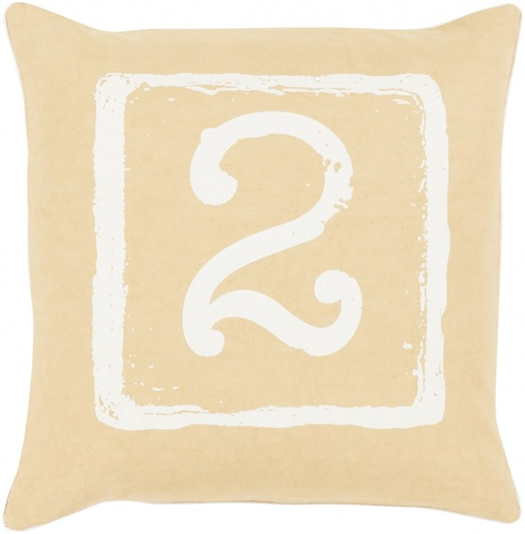 Big Kid Blocks Gold Novelty Down Cotton Throw Pillow (L 20 X W 20) BKB046-2020D