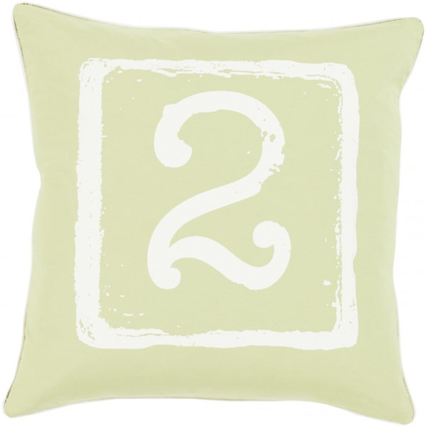 Big Kid Blocks Lime Square Down Cotton Throw Pillow (L 20 X W 20) BKB049-2020D