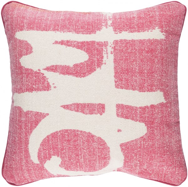 Bristle Pillow with Down Fill in Hot Pink - 20 x 20 x 5 BT001-2020D