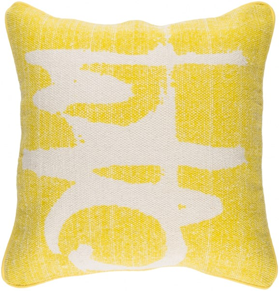 Bristle Pillow with Down Fill in Lemon - 20 x 20 x 5 BT002-2020D