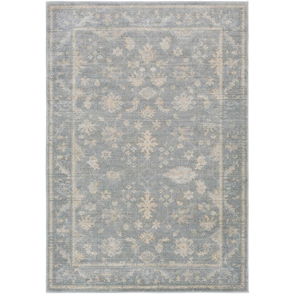 Surya Tranquil Gray Taupe Cream Polypropylene Polyester Area Rug - 36x24 TQL1007-23