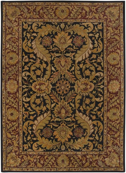 Ancient Treasures Beige Chocolate Olive Wool Area Rug (L 132 X W 96) A103-811