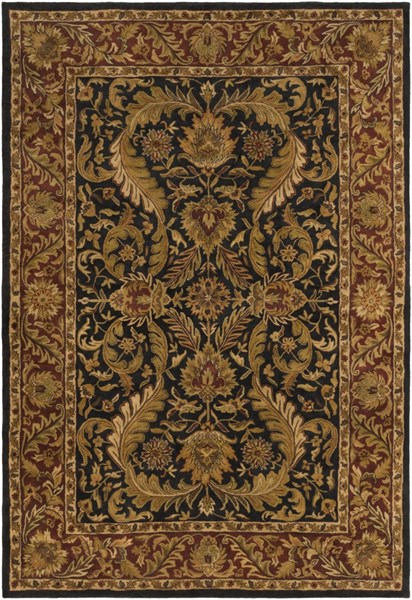 Ancient Treasures Beige Chocolate Olive Wool Area Rug (L 156 X W 108) A103-913