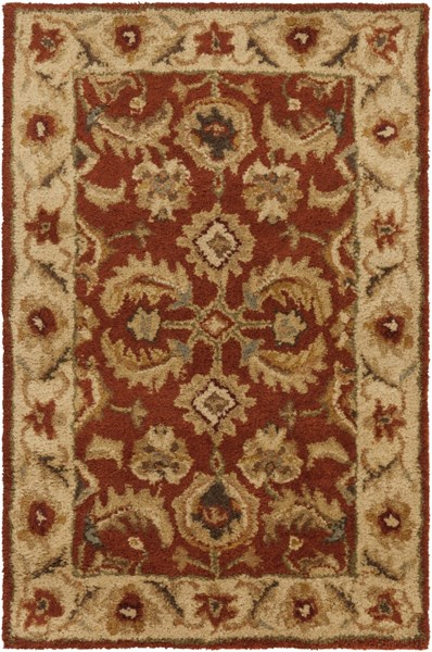 Ancient Treasures Traditional Beige Slate Gold Wool Rugs 494-VAR1