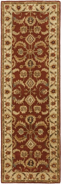 Ancient Treasures Beige Slate Gold Wool Runner (L 96 X W 30) A147-268