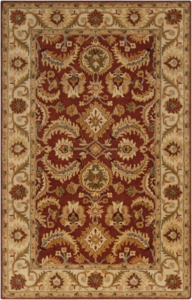 Ancient Treasures Beige Slate Gold Wool Area Rug (L 96 X W 60) A147-58