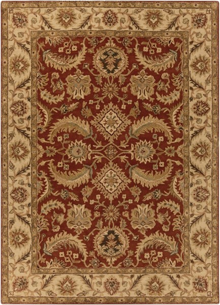 Ancient Treasures Beige Slate Gold Wool Area Rug (L 132 X W 96) A147-811