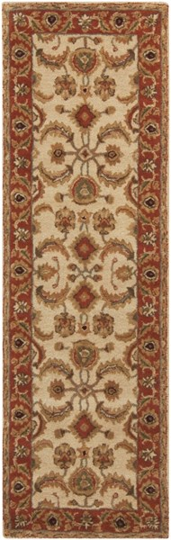 Ancient Treasures Beige Gold Olive Wool Runner (L 96 X W 30) A160-268
