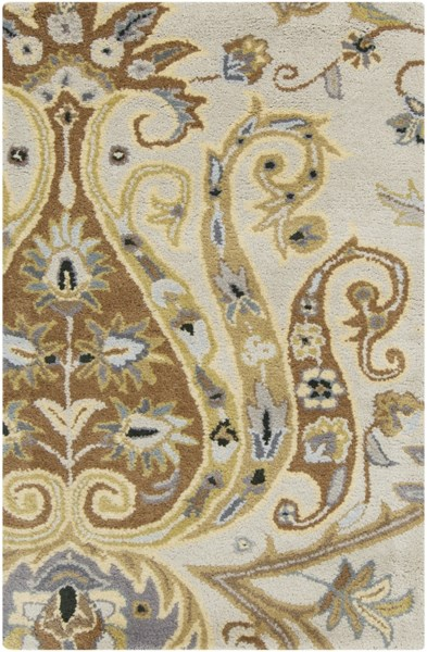 Ancient Treasures Gray Lime Beige Wool Area Rug (L 36 X W 24) A165-23