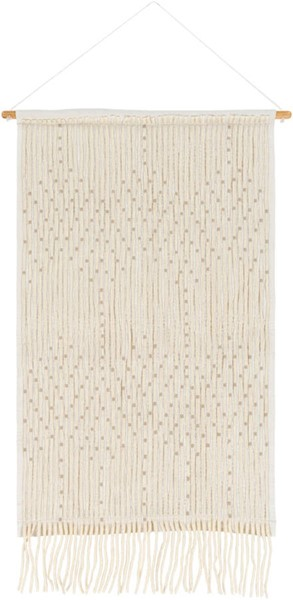 Surya Amare White Cotton Wall Hangings - 24x36 AAE1001-2436