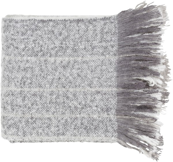 Surya Arrah Medium Gray White Throw AAH1001-5060