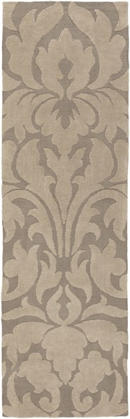 Abigail Taupe Light Gray Polyester Kids Rug (L 96 X W 30) ABI9004-268
