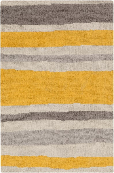 Abigail Lemon Light Gray Taupe Polyester Kids Rug - 24 x 36 ABI9021-23