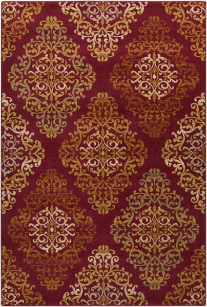 Arabesque Cherry Tan Gold Beige Polypropylene Area Rug - 63 x 87 ABS3014-5373